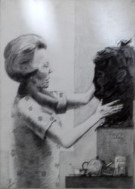 Surrealistic portrait graphite pencil drawing thumbnail thumbnail