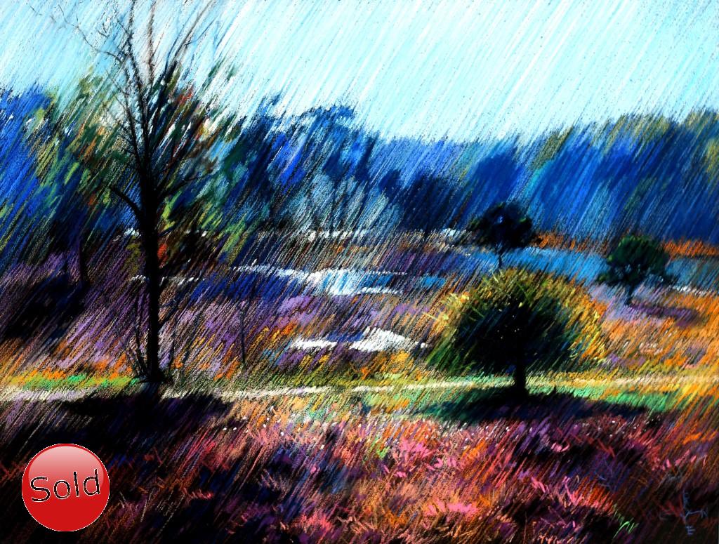 Impressionistic pastel drawing