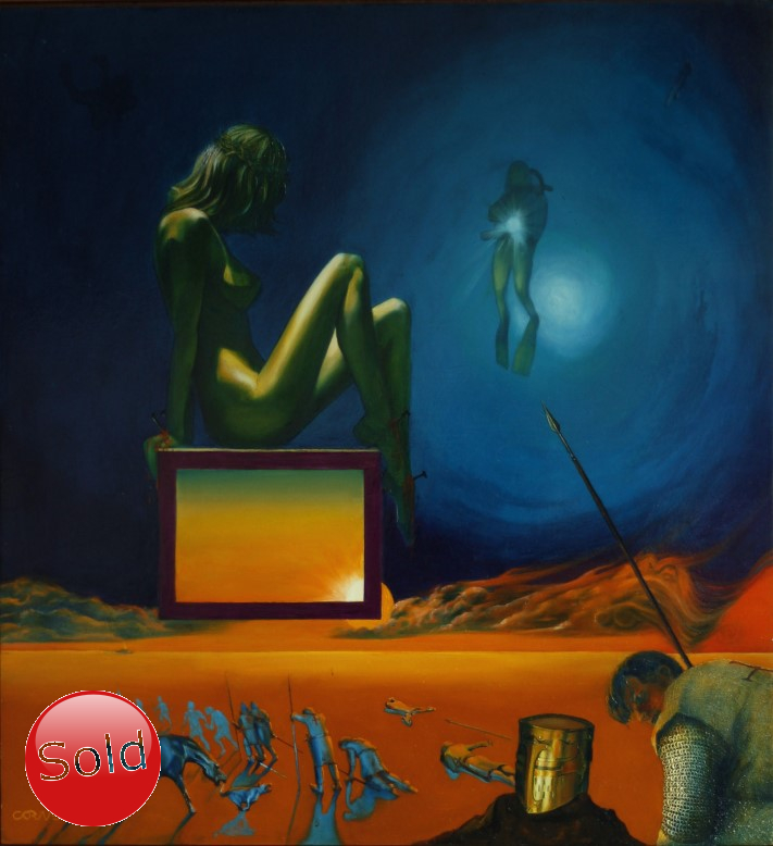 Surrealistic oil painting