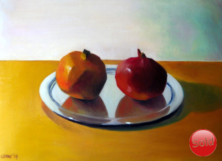 Expressionistic still life oil painting