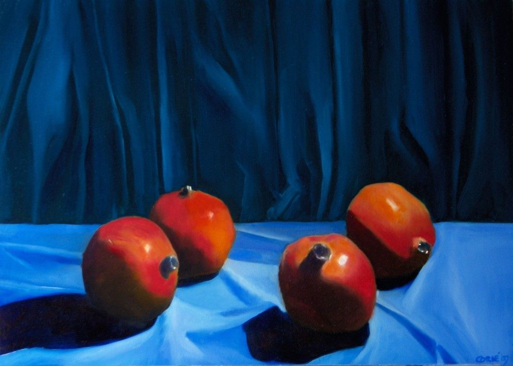 Epxressionistic still life oil painting