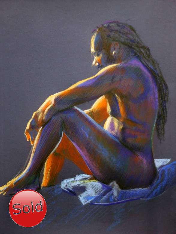 expressionist nude pastel drawing promotion