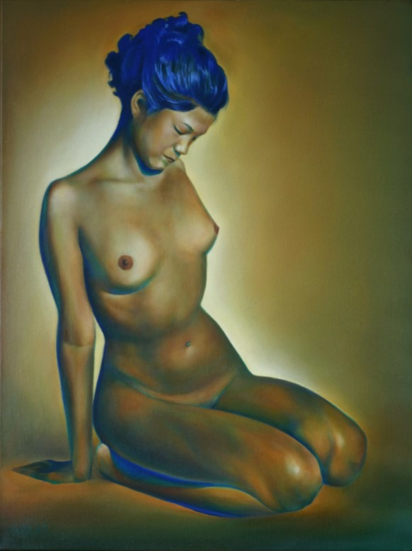 expressionistic nude oil painting
