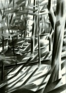 cubistic treescape graphite pencil drawing thumbnail