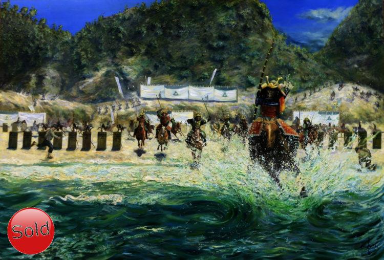 Surrealistic seascape oil painting