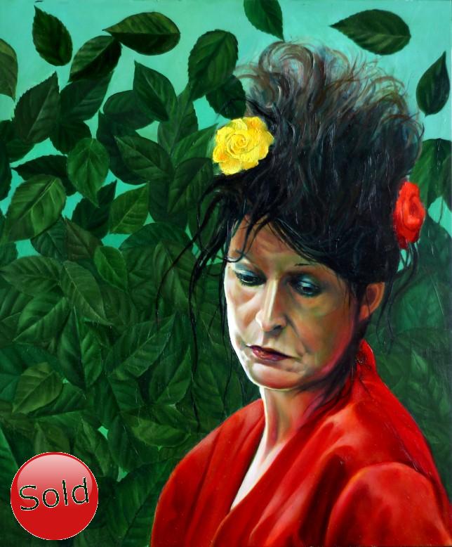 Surrealistic portrait of Henriette Sibbie oil painting