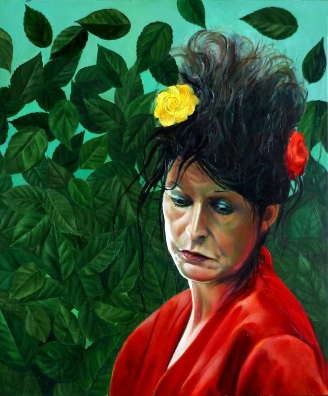 surrealistic portrait oil painting