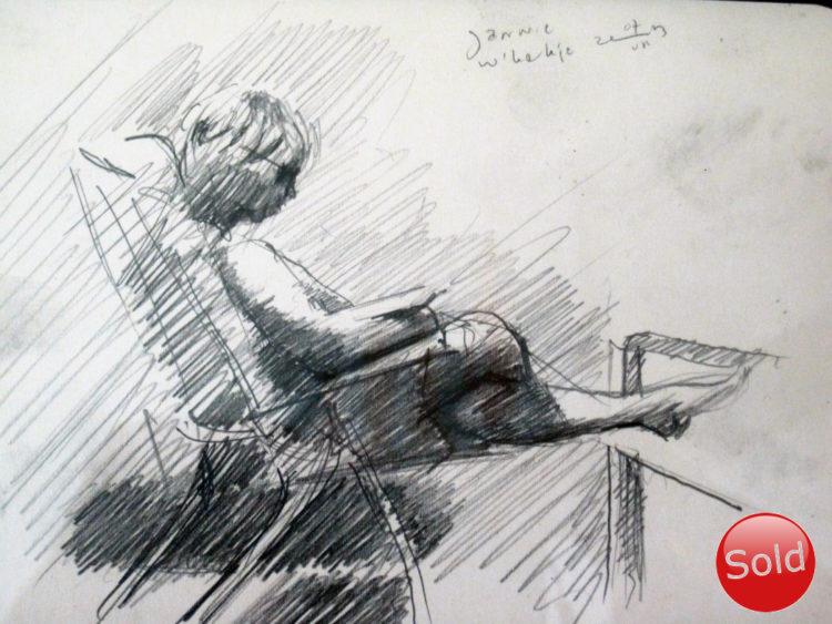 impressionistic graphite pencil drawing