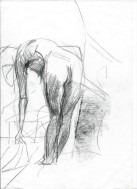impressionistic nude graphite pencil sketch thumbnail