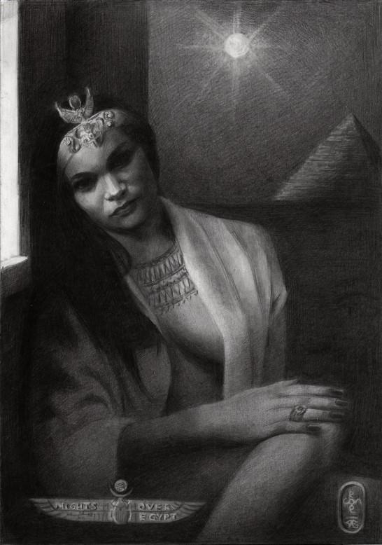 surrealistic portrait graphite pencil drawing