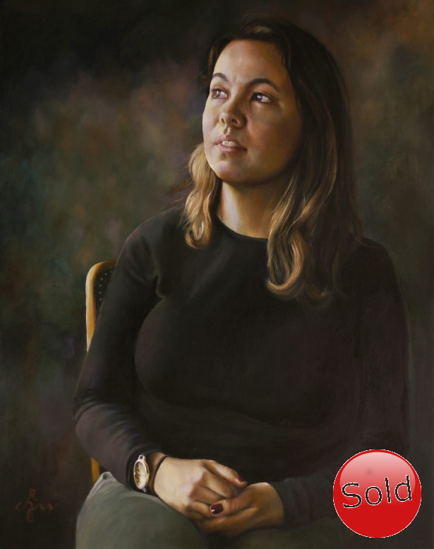 Realistic portrait oil painting