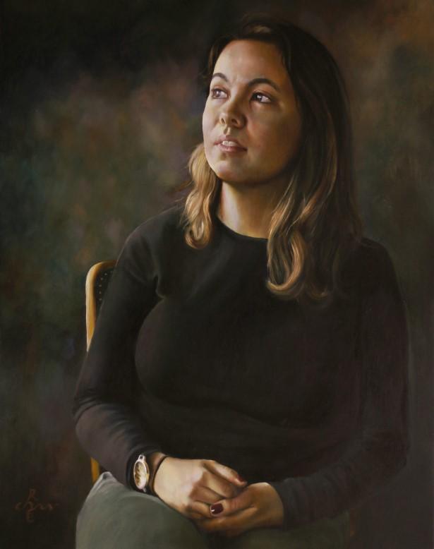 realistic portrait oil painting