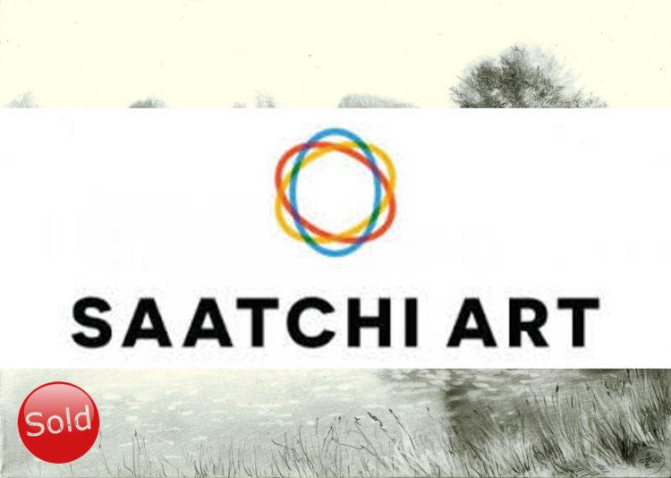 surrealistic landscape graphite pencil drawing advertisement