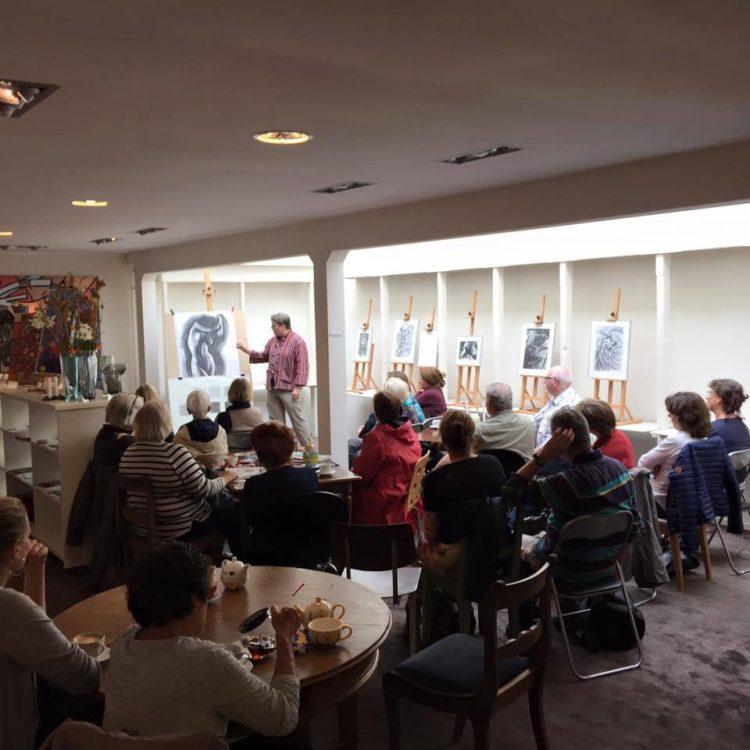 Corne Akkers lecturing at Brugman Art