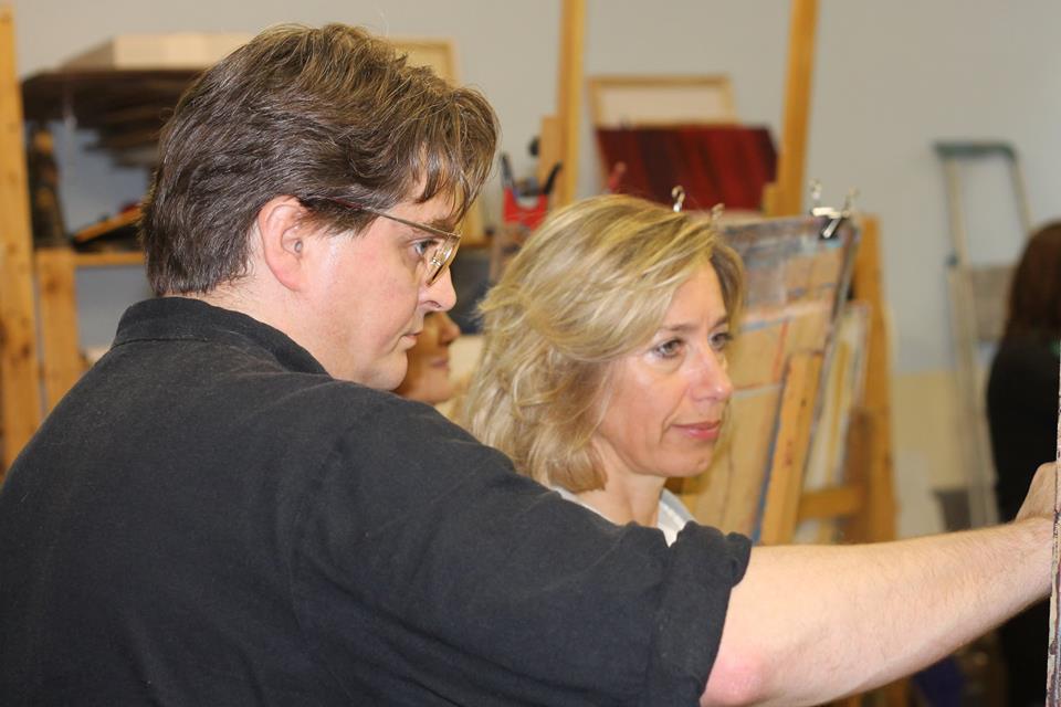 Corne Akkers teaching at Brugman Art