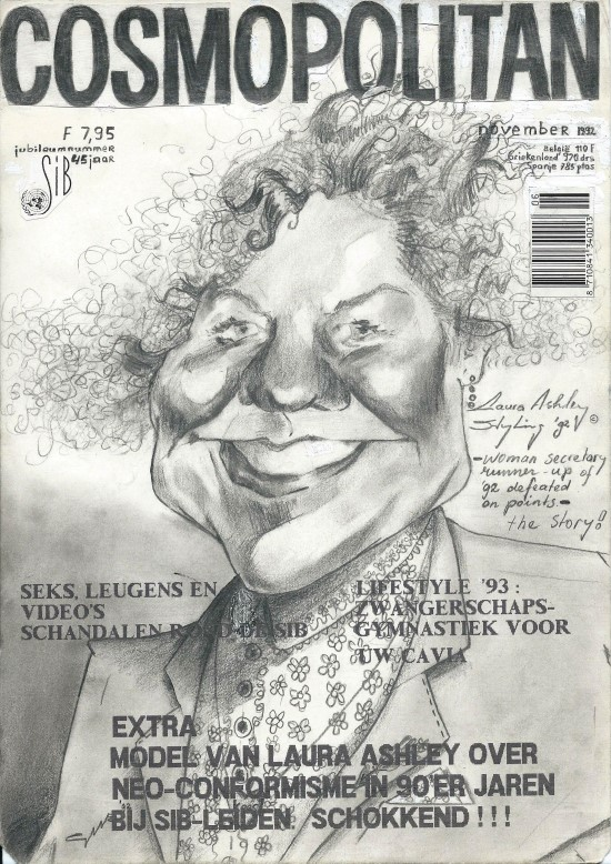 Caricature graphite pencil drawing
