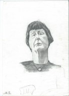 Caricature portrait graphite pencil drawing thumbnail