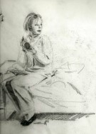 Realisitc female graphite pencil drawing thumbnail
