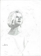 Realistic graphite pencil portrait sketch thumbnail