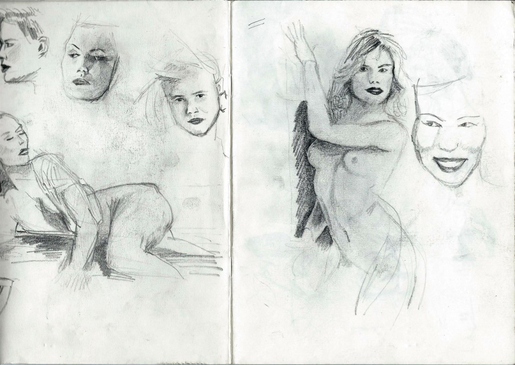 Sketchbook nudes and portraits of Corne Akkers