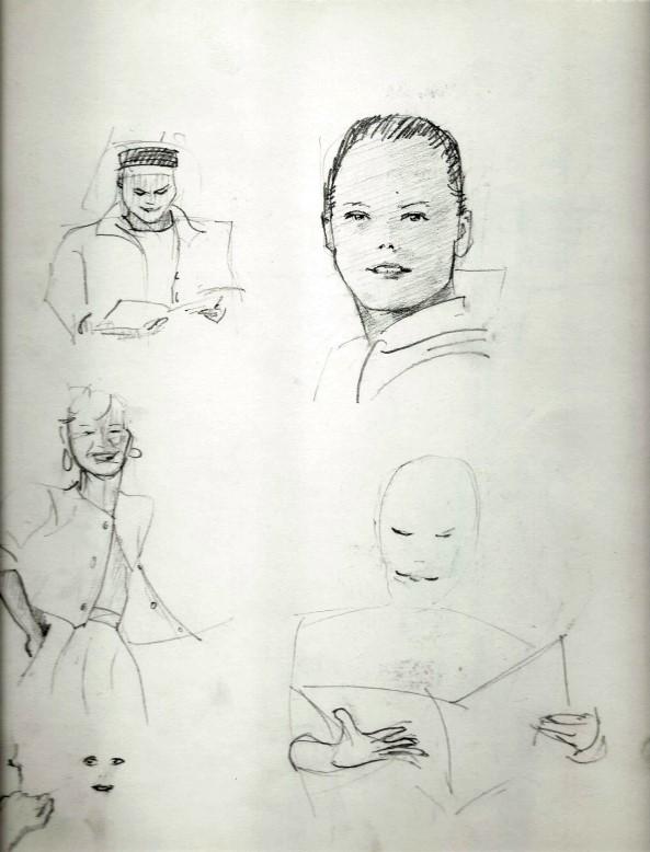 Realistic graphite pencil sketches