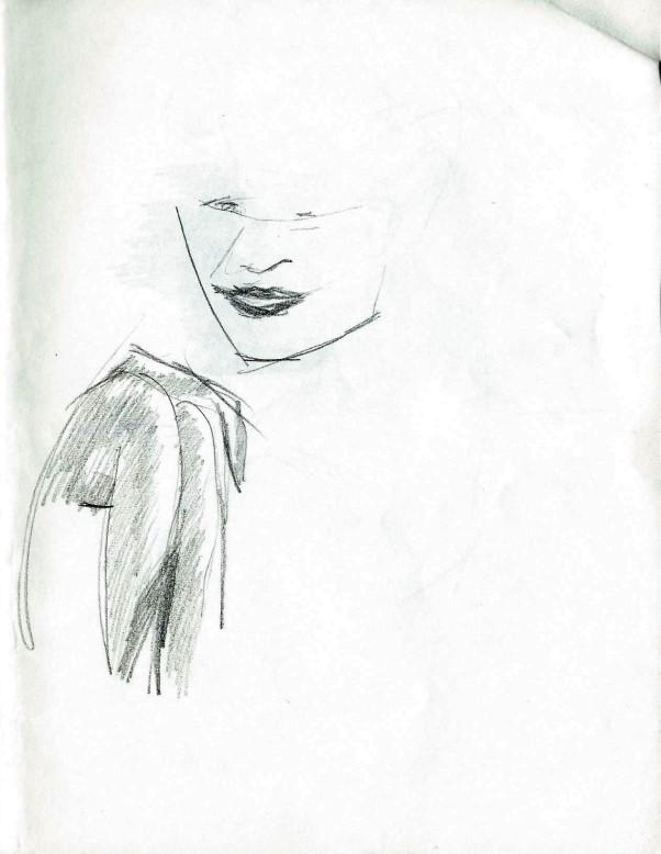 Realistic graphite pencil sketch