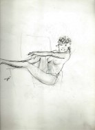 Realistic nude graphite pencil sketch thumbnail