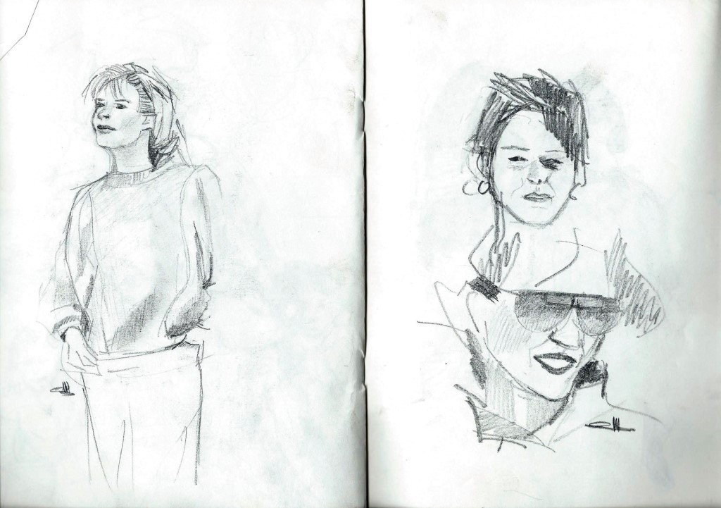 Sketchbook nudes and portraits