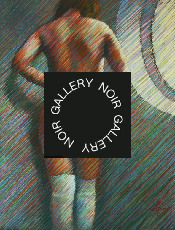 impressionistic nude pastel drawing advertisement