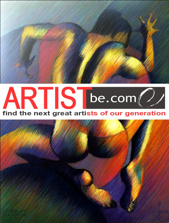 surrealistic nude pastel drawing advertisement