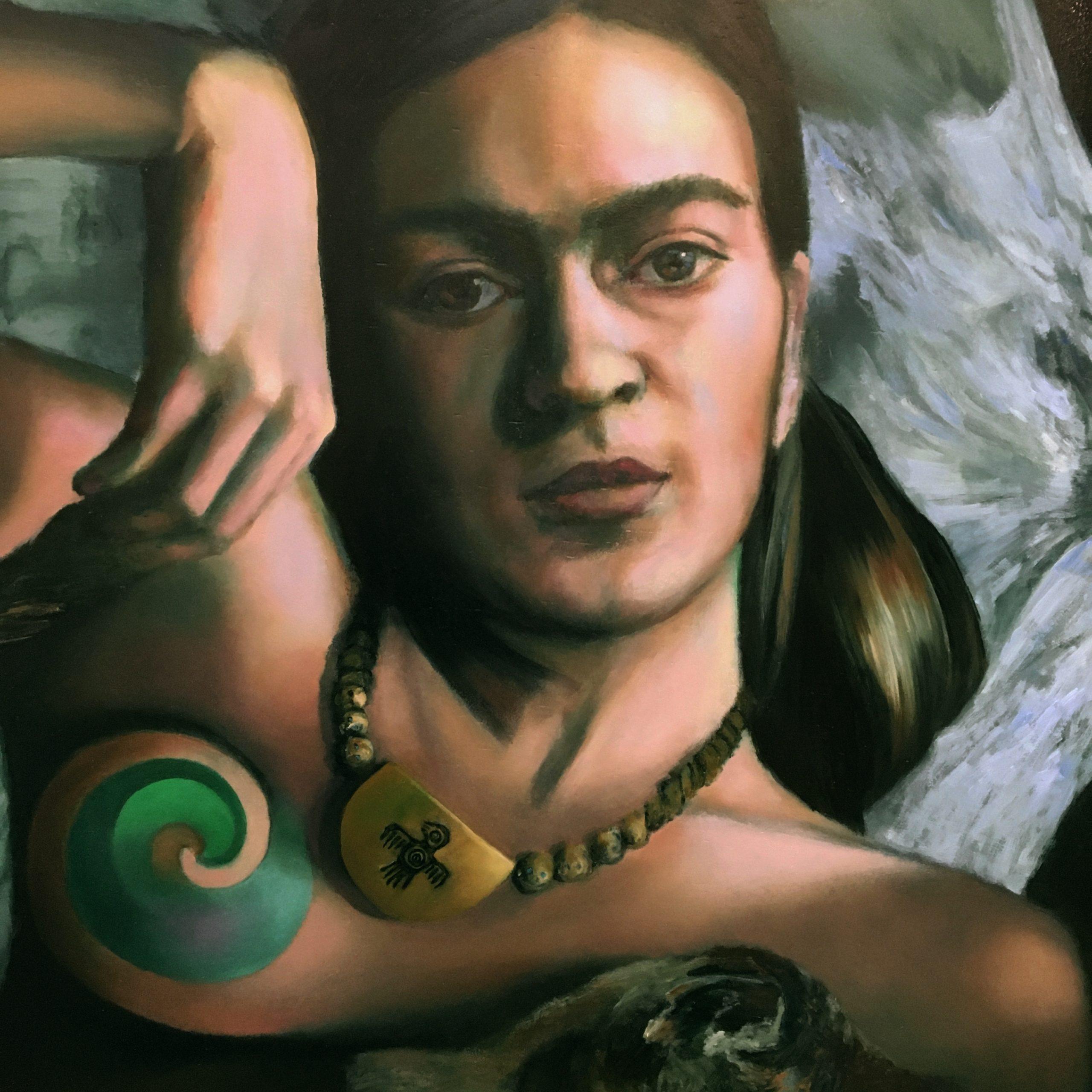 head of Frida Kahlo