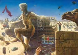 Surrealistic landscape oil painting thumbnail