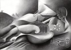 Surrealist graphite pencil drawing thumbnail