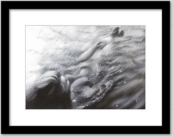 impressionistic nude pastel drawing framing example