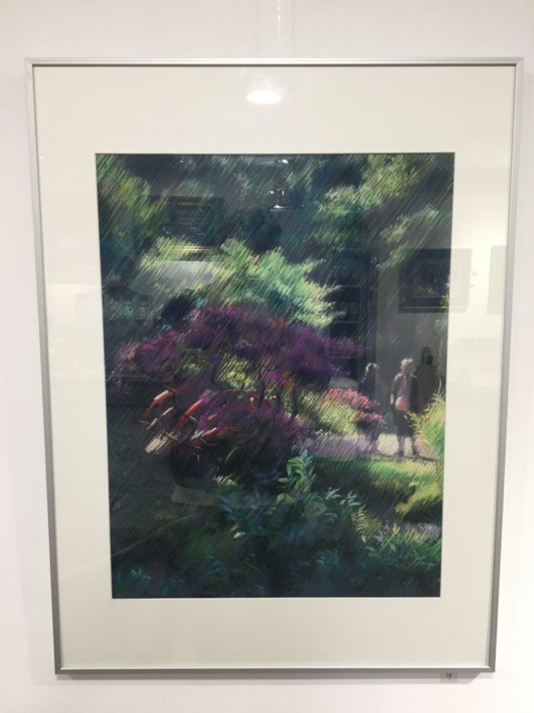 framing example of an impressionistic treescape pastel drawing