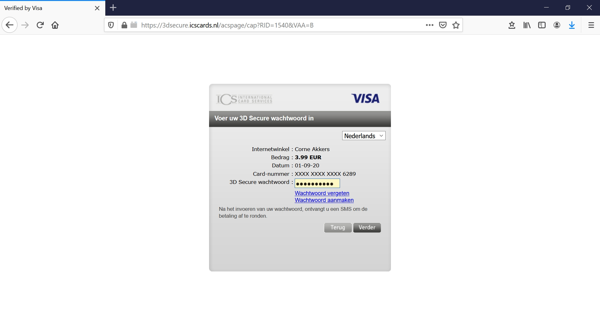 test payment screen shot 5