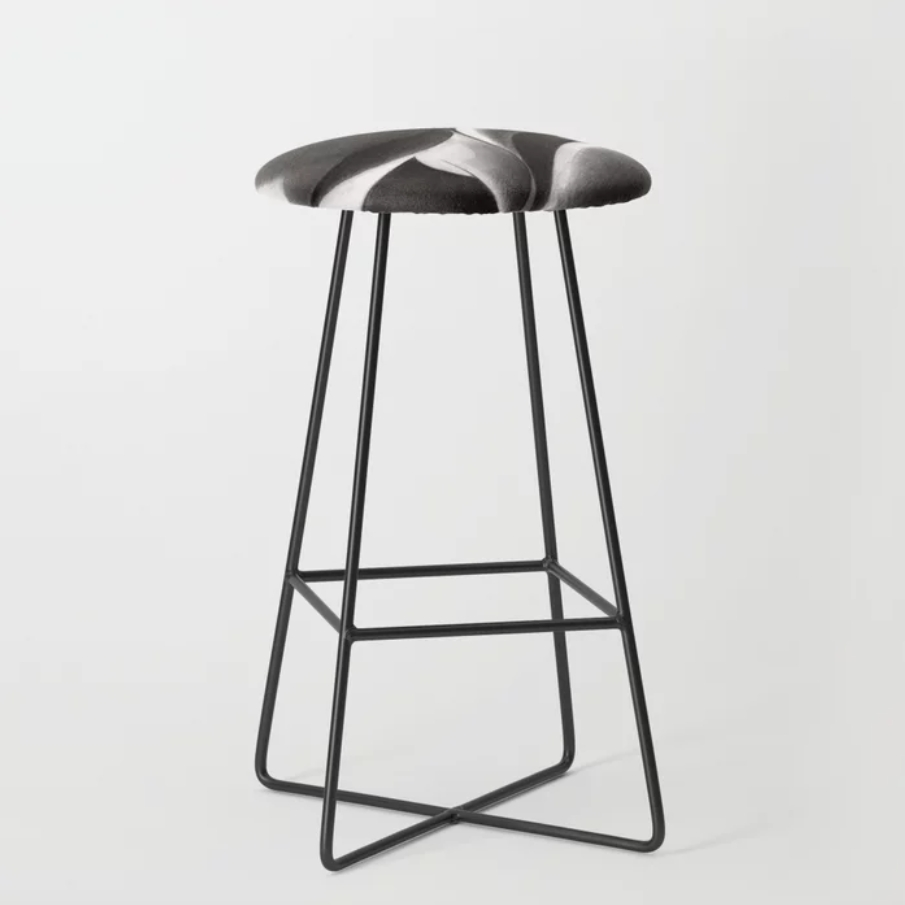 cubistic nude graphite pencil drawing bar stool mockup