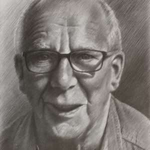 realistic portrait graphite pencil drawing